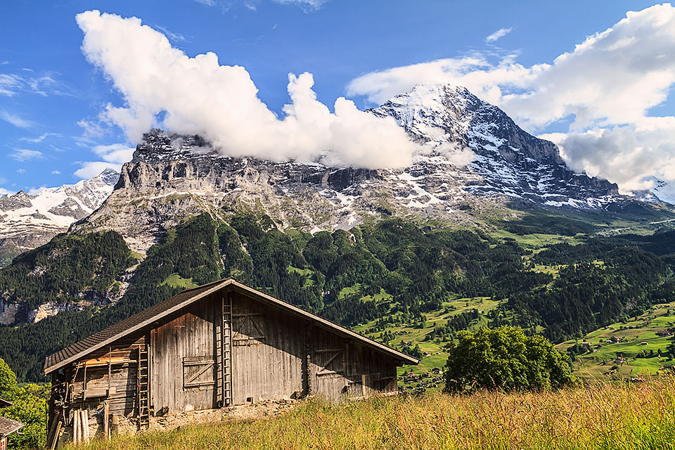 Barn with Mount Eiger