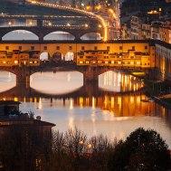 Ponte Vecchio Bridge and Arno river, Florence, Italy
