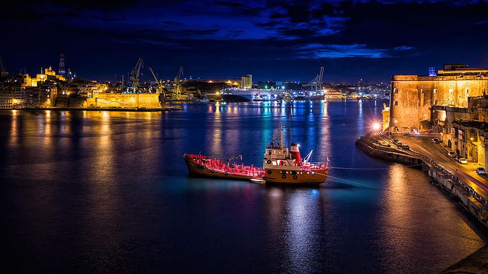 Grand Harbour, Valletta, Malta.