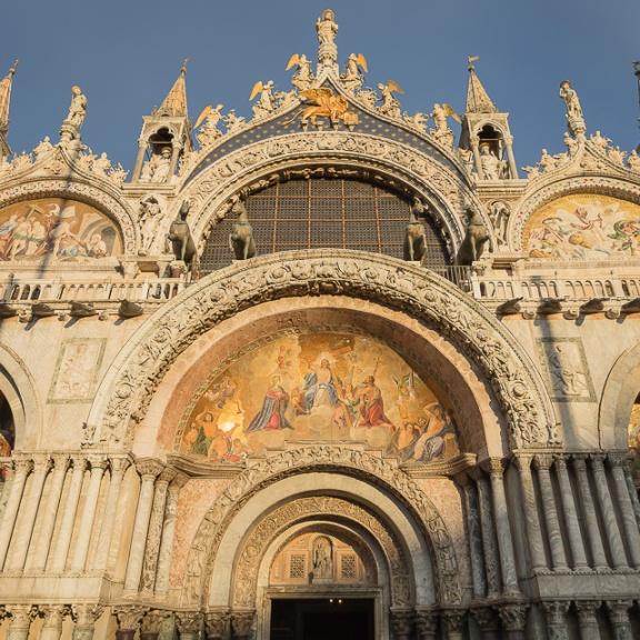Facade of St Mark's Basilica, Venice, Italy