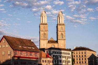 The Grossmünster cathedral, Zurich, Switzerland.