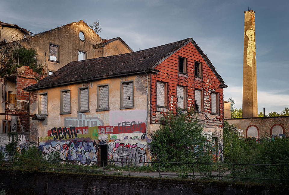 Abandoned spinning mill factory Jakobstal