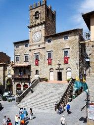Piazza della Repubblica and Palazzo Comunale, Cortona, Tuscany