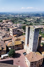 medieval town of San Gimignano, Tuscany,
