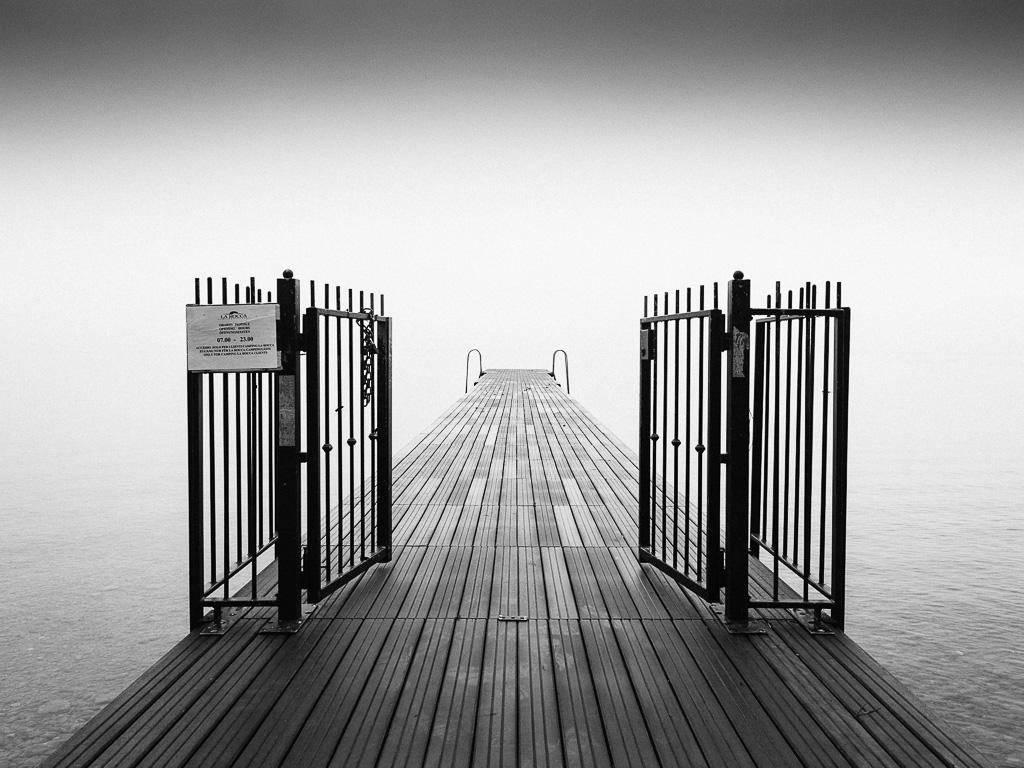 Il pontile verso il nulla, Bardolino, Lago di Garda