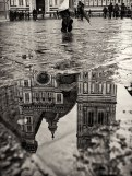 The square in front of the Duomo after the rain, Florence, Tuscany, Italy.