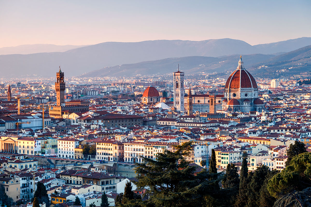 Florence at sunset, Tuscany, Italy