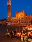 Restaurant in Piazza del Campo, Siena, Tuscany, Italy.