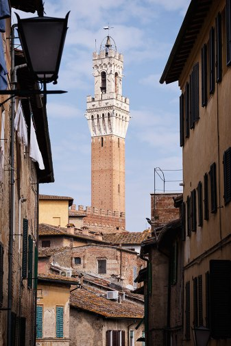 The Mangia Tower, Siena, Tuscany, Italy.