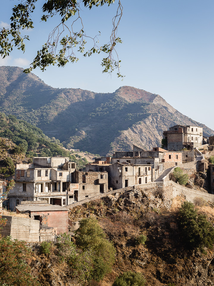 The abandoned village of Roghudi Vecchio in the Aspromonte Mountains, Calabria, Italy