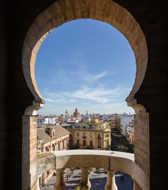 View from La Giralda bell tower in Seville