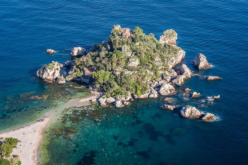 Isola Bella island in Taormina, Sicily