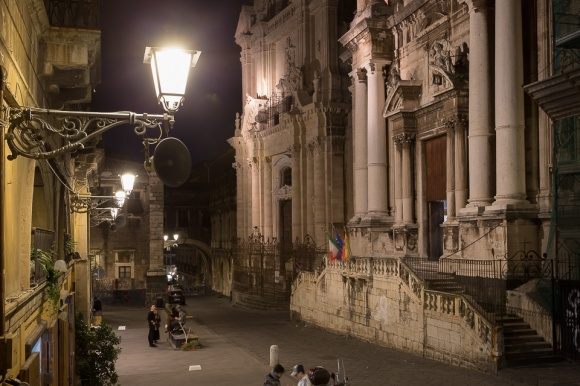 Baroque churches in Via Crociferi street, Catania, Sicily