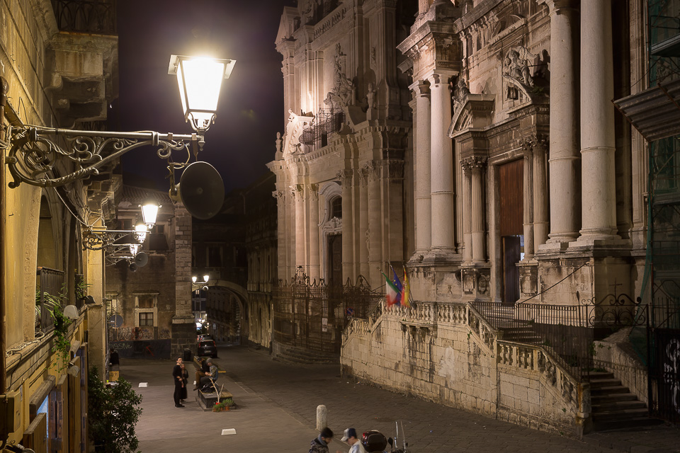 Baroque churches in Via Crociferi street, Catania, Sicily