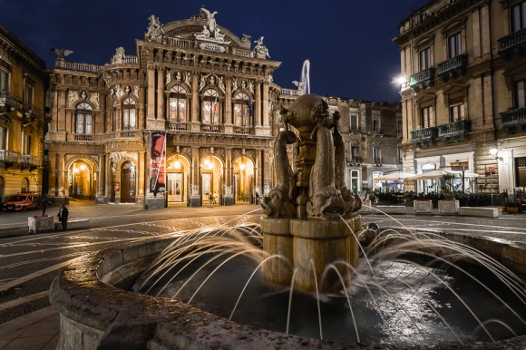 Bellini theatre in Catania, Sicily, Italy.