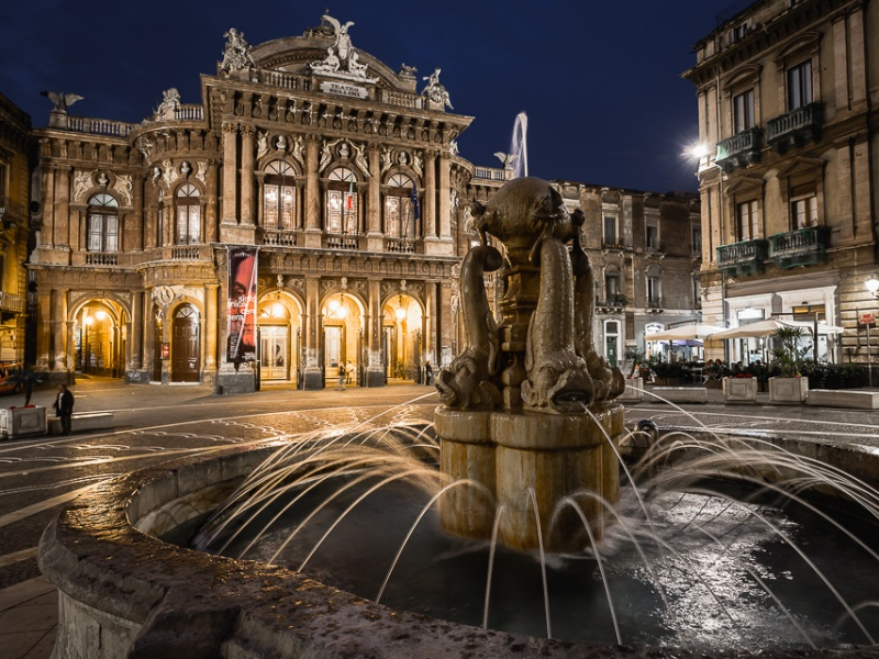 Bellini theatre in Catania, Sicily, Italy.
