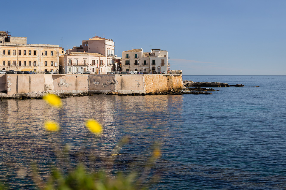 Eastern waterfront of Ortigia, Siracusa, Sicily