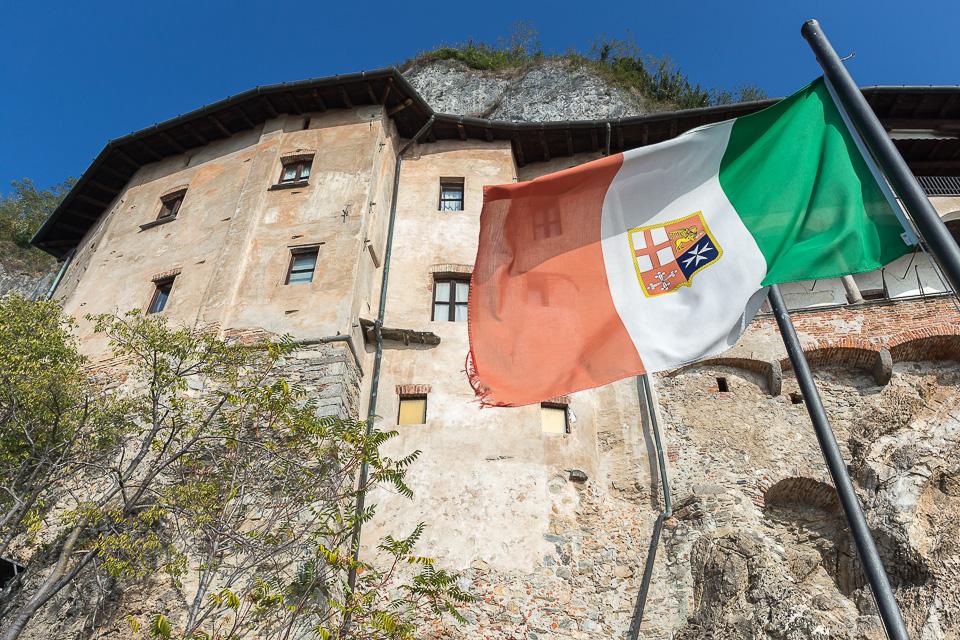 Hermitage of Santa Caterina del Sasso, Leggiuno, Varese, Lombardy, Italy