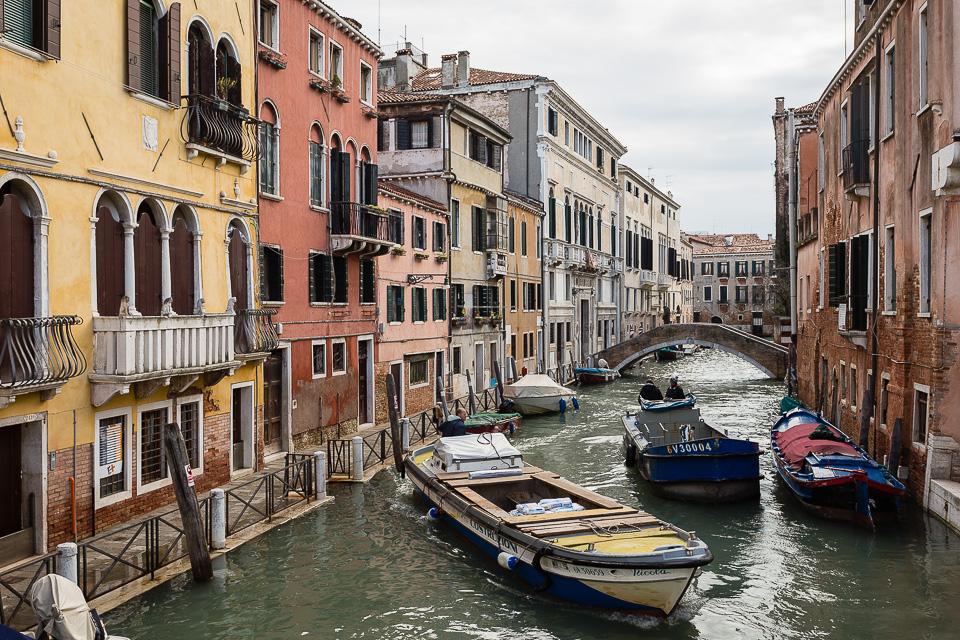 Cargo boats in Venice, Italy