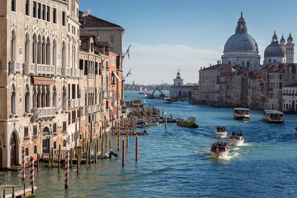 Grand Canal with Santa Maria della Salute church from Accademia bridge, Venice, Italy