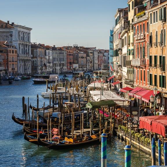 Grand Canal from Rialto bridge, Venice, Italy