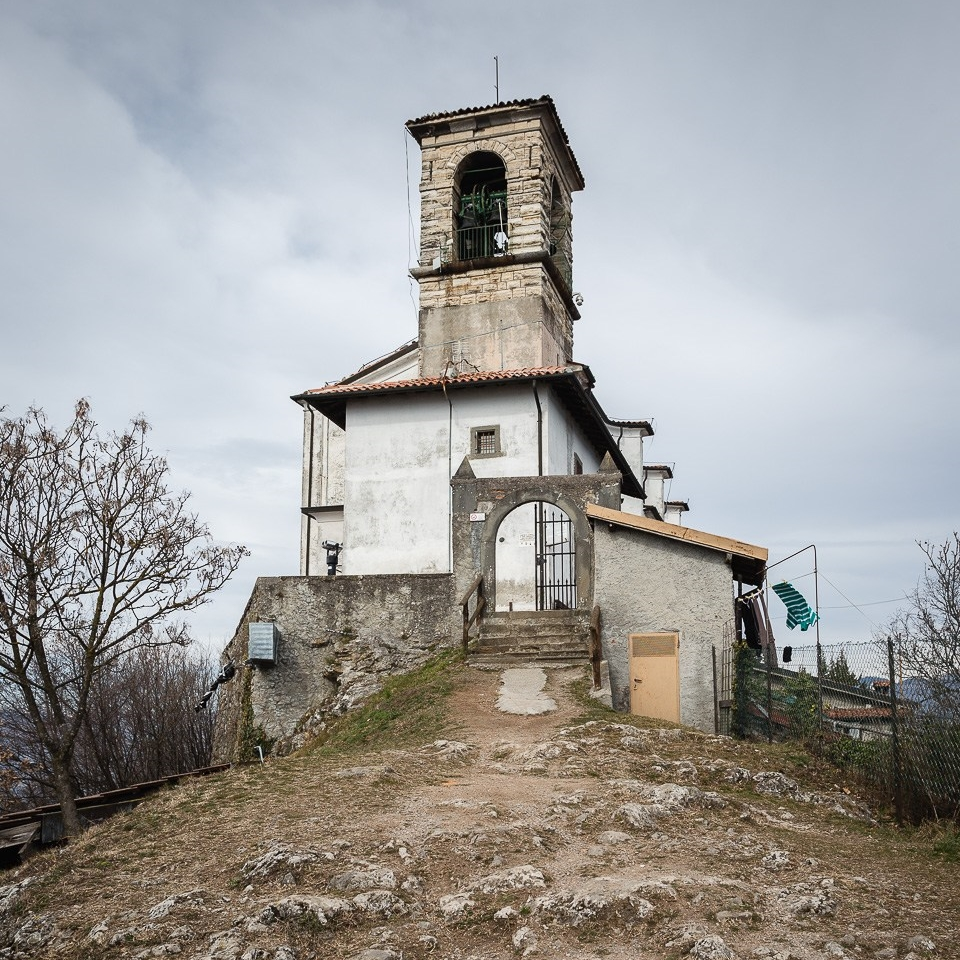 Madonna della Ceriola sanctuary, Mont Isola, Iseo lake, Lombardy, Italy