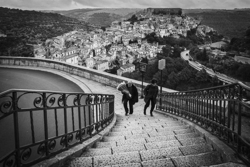 Stairway in Ragusa Ibla, Sicily, Italy - Antonio Violi Photography