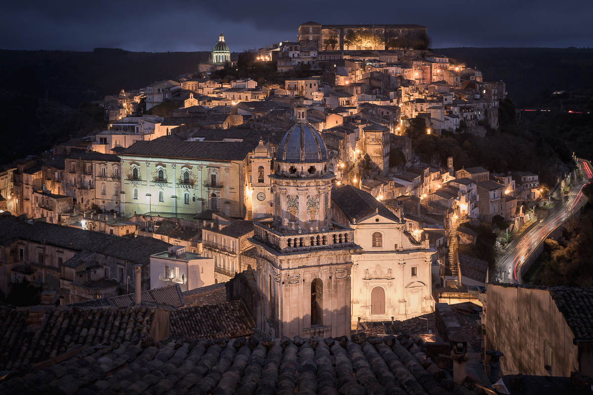 Santa Maria dell'Itria belltower and the town of Ragusa Ibla, Sicily, Italy, Antonio Violi Photography
