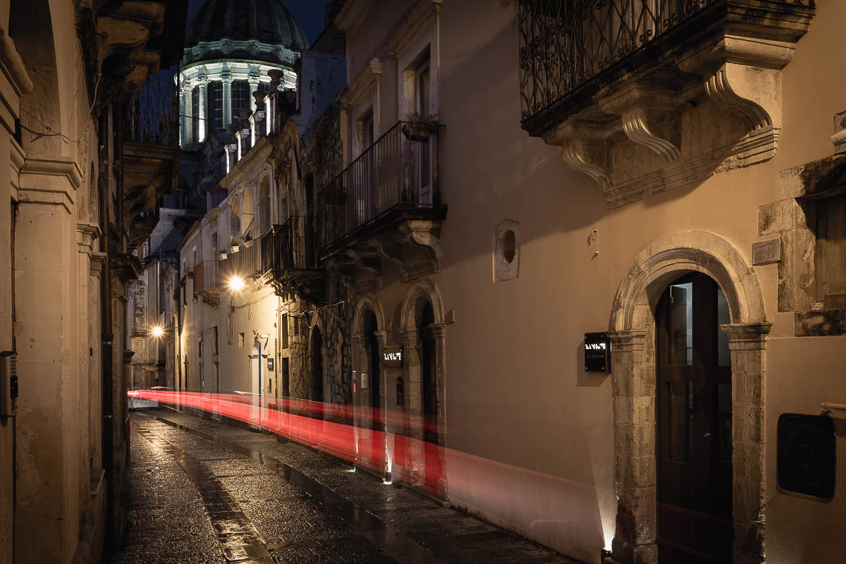 An alley at night in Ragusa Ibla, Sicily, Italy, Antonio Violi Photography