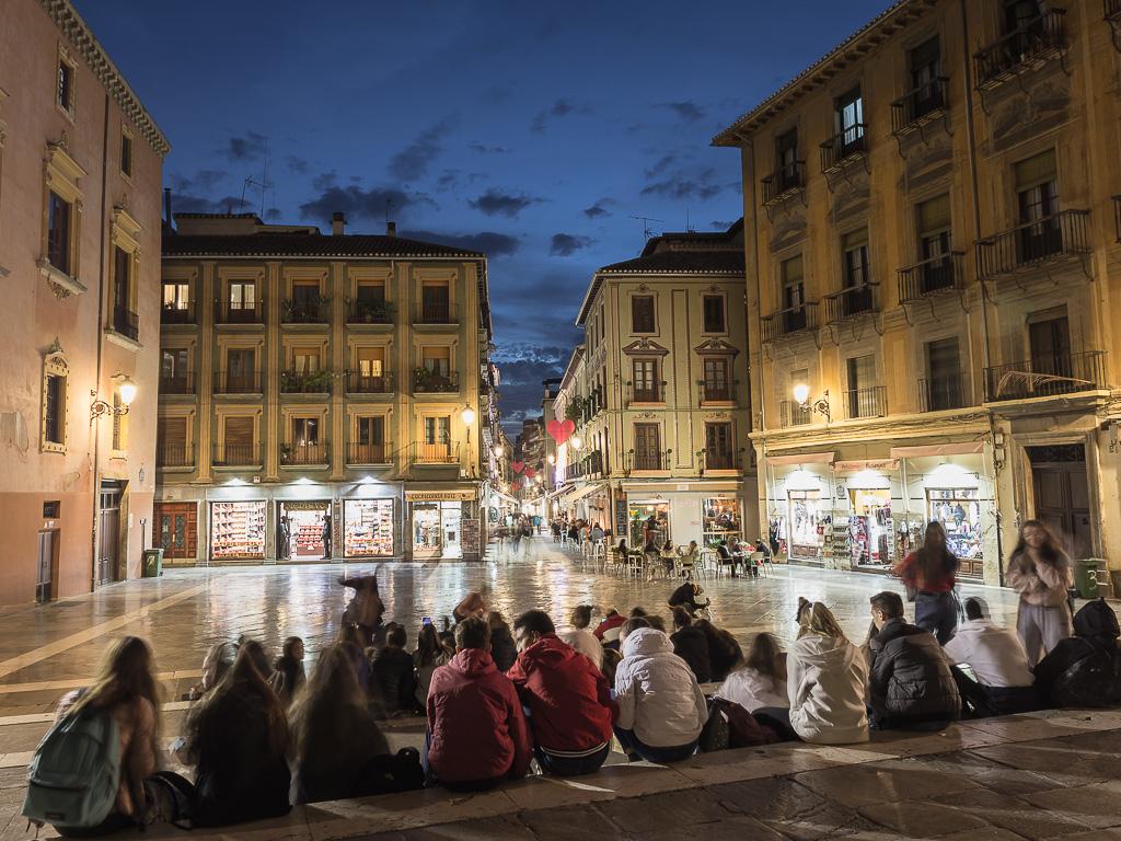 Plaza Plasiegas, Granada, Andalusia, Spagna