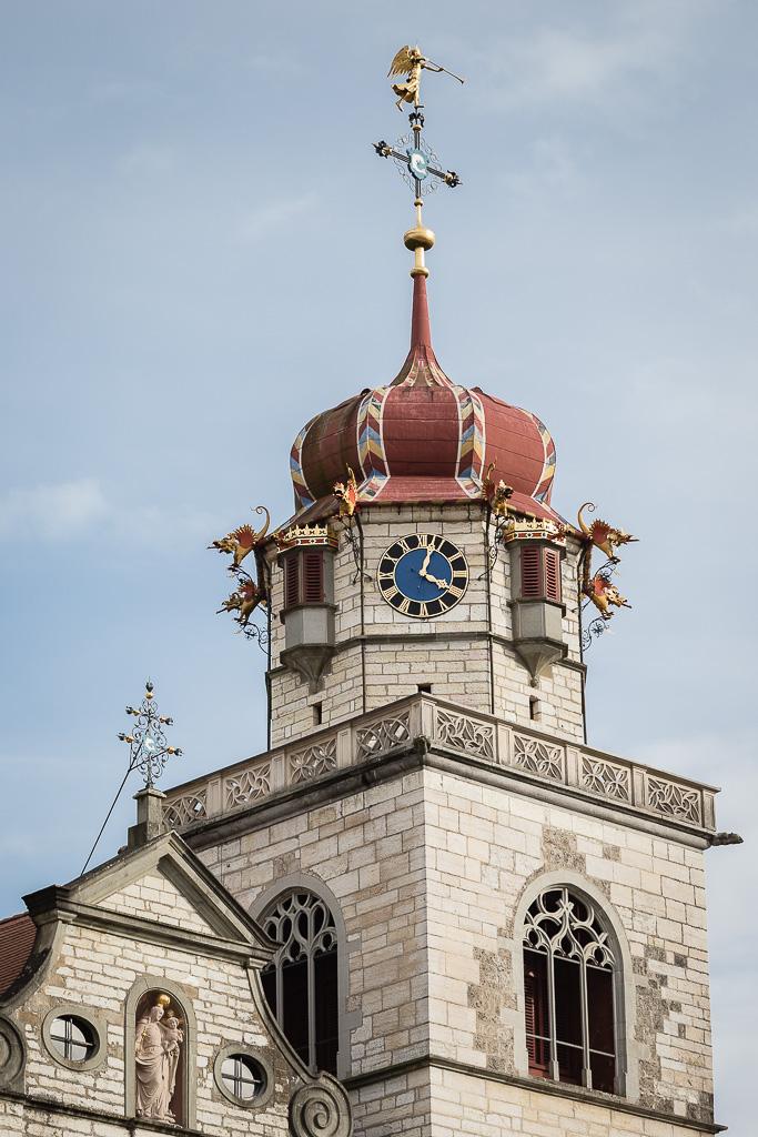 Klosterkirche, Klosterinsel, Rheinau, Canton of Zurich, Switzerland